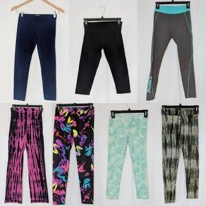 EUC 7 pair of Justice Leggings/ Yoga pants